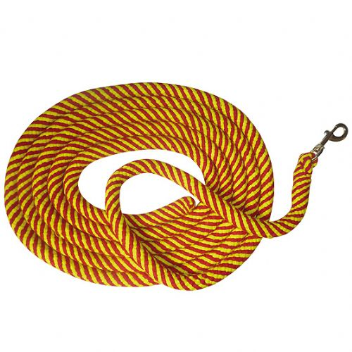 6 metre soft round cotton lunging or showing rope